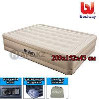 Надувной матрас-кровать, Essence Fortech Queen, Bestway 69011, размер 203х152х43 см, со встроенным насосом, фото 1