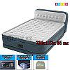 Надувной матрас-кровать, Headboard Airbed, intex 64448, размер 236x152x 86 см, с насосом