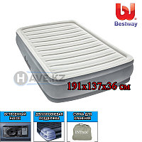 Надувной матрас-кровать, Comfort Cell Tech, Bestway 67530, размер 191х137х36 см, с насосом , фото 1