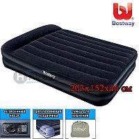 Надувной матрас-кровать,  Aeroluxe Airbed, Bestway 67345, размер 203х152х46 см, с насосом, фото 1