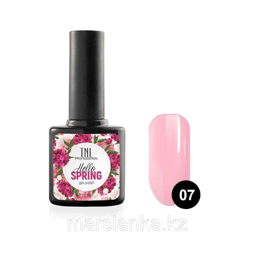 Гель-лак TNL Hello Spring #07 светло розовый, 10мл