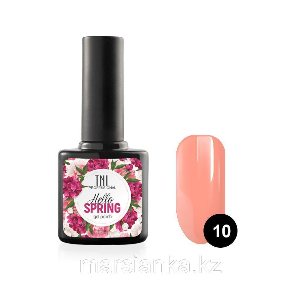 Гель-лак TNL Hello Spring #10 персиково розовый, 10мл