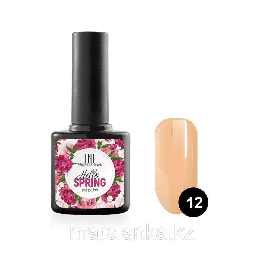 Гель-лак TNL Hello Spring #12 абрикосовый щербет, 10мл
