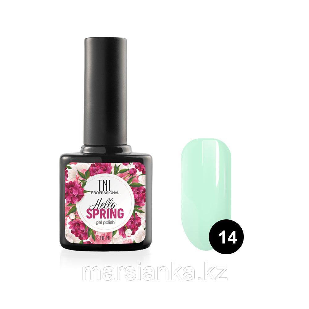 Гель-лак TNL Hello Spring #14 светло зеленый, 10мл
