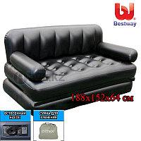 Надувной диван Bestway 75056, с насосом в комплекте, размер 188x152x64 см, 5 в 1, фото 1