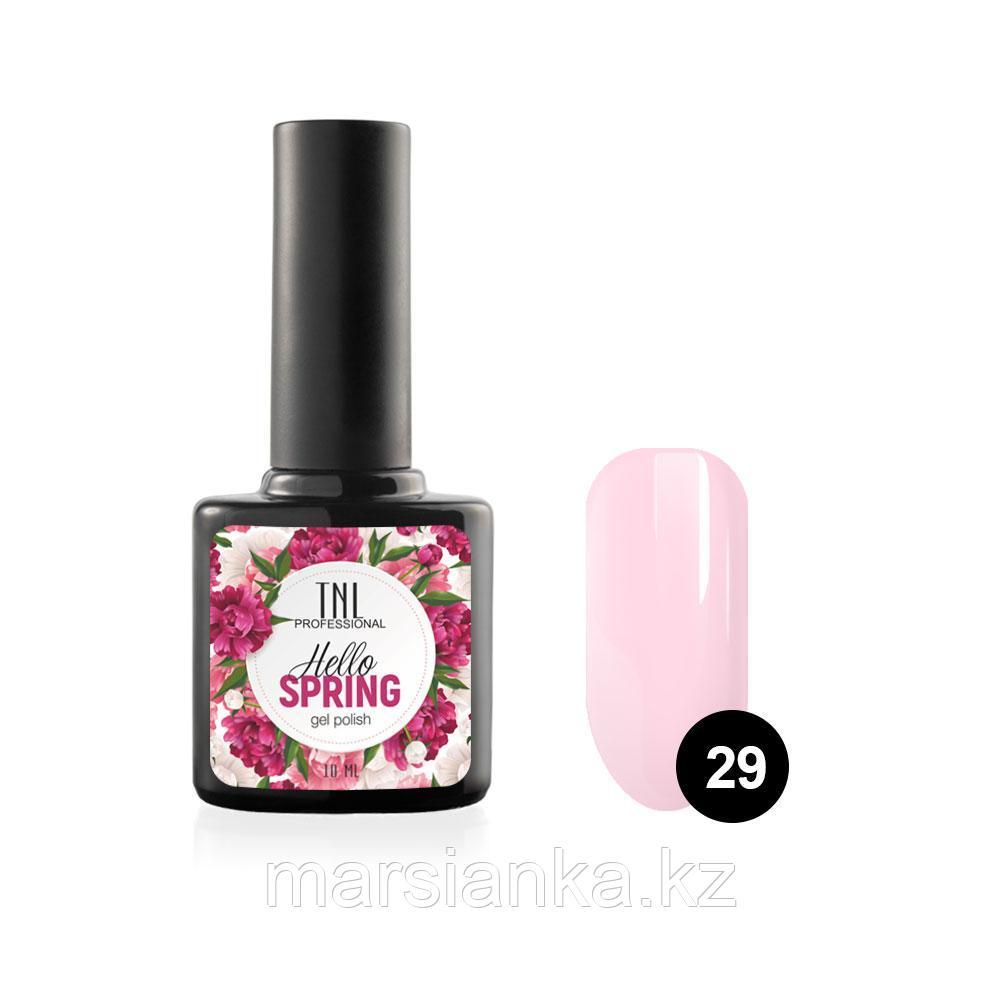 Гель-лак TNL Hello Spring #29 нежно розовый, 10мл