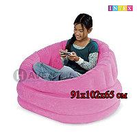 Надувное кресло, Intex 68563, размер 91х102х65 см, в ассортименте