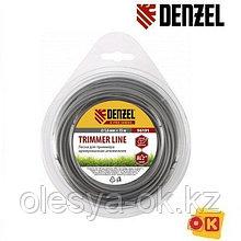 Армированная леска для триммера, круглая, 3 мм х 10 м. Denzel Россия