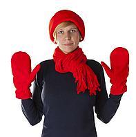 Шарфы, шапки и перчатки из флиса