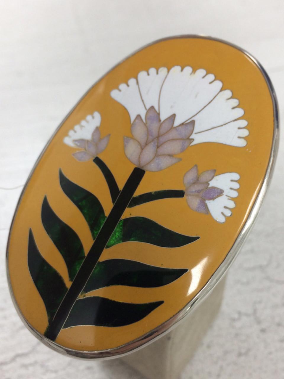 "Кольцо «Белый цветок"""