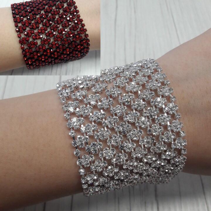 Браслет с кристаллами (3 расцветки)