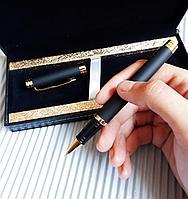 Подарочная матовая ручка в коробке из эко кожи