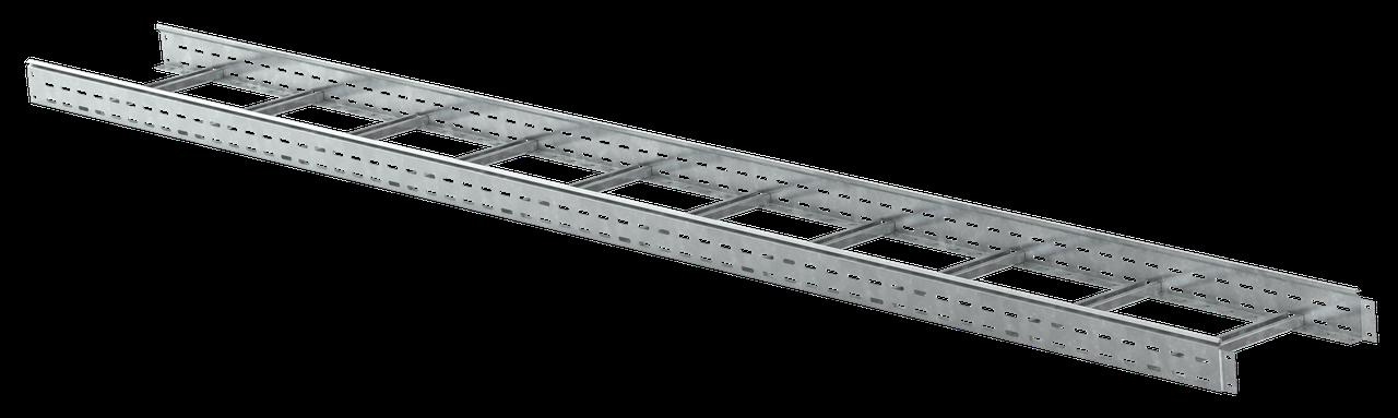Лоток лестничный 80х500х3000, 1,5 мм