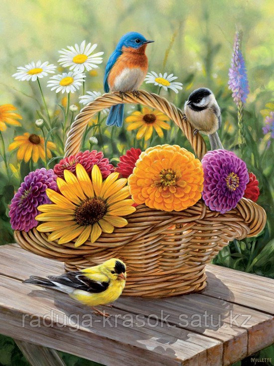 "Картина по номерам ""Яркие птички"""