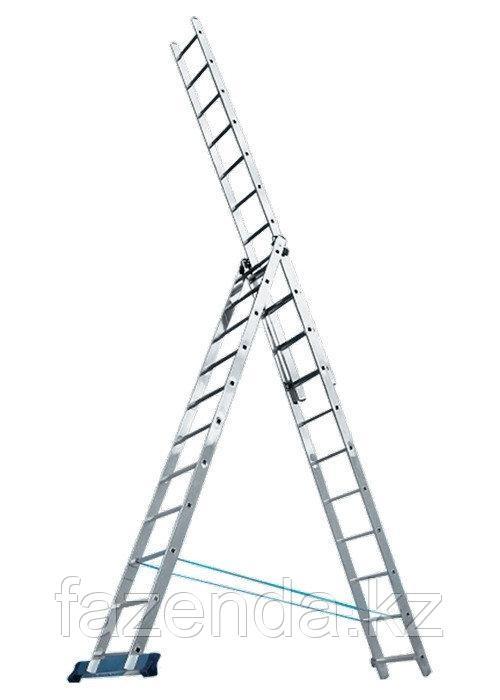 Трехсекционная алюминиевая лестница 3х8