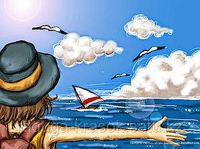 "Картинка стразами ""Здравствуй, море"" 17х22 см"