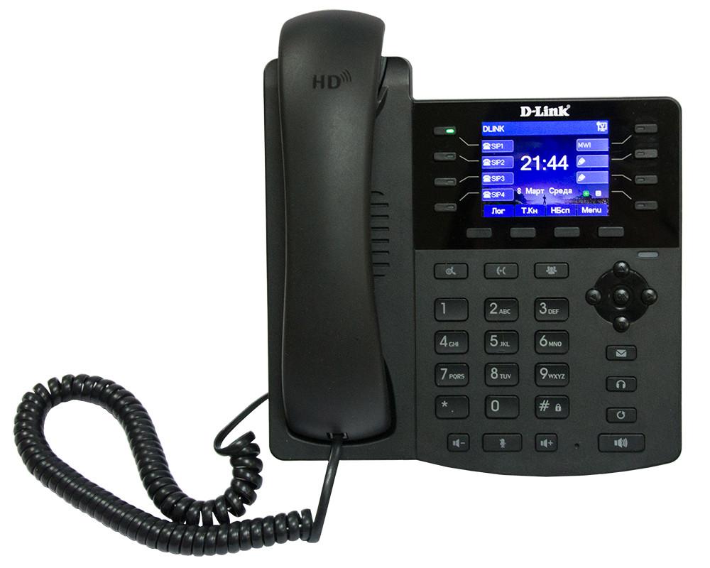 D-Link DPH-150S/F5 IP-телефон с цветным дисплеем, 1 WAN-портом 10/100Base-TX и 1 LAN-портом 10/100Base-TX