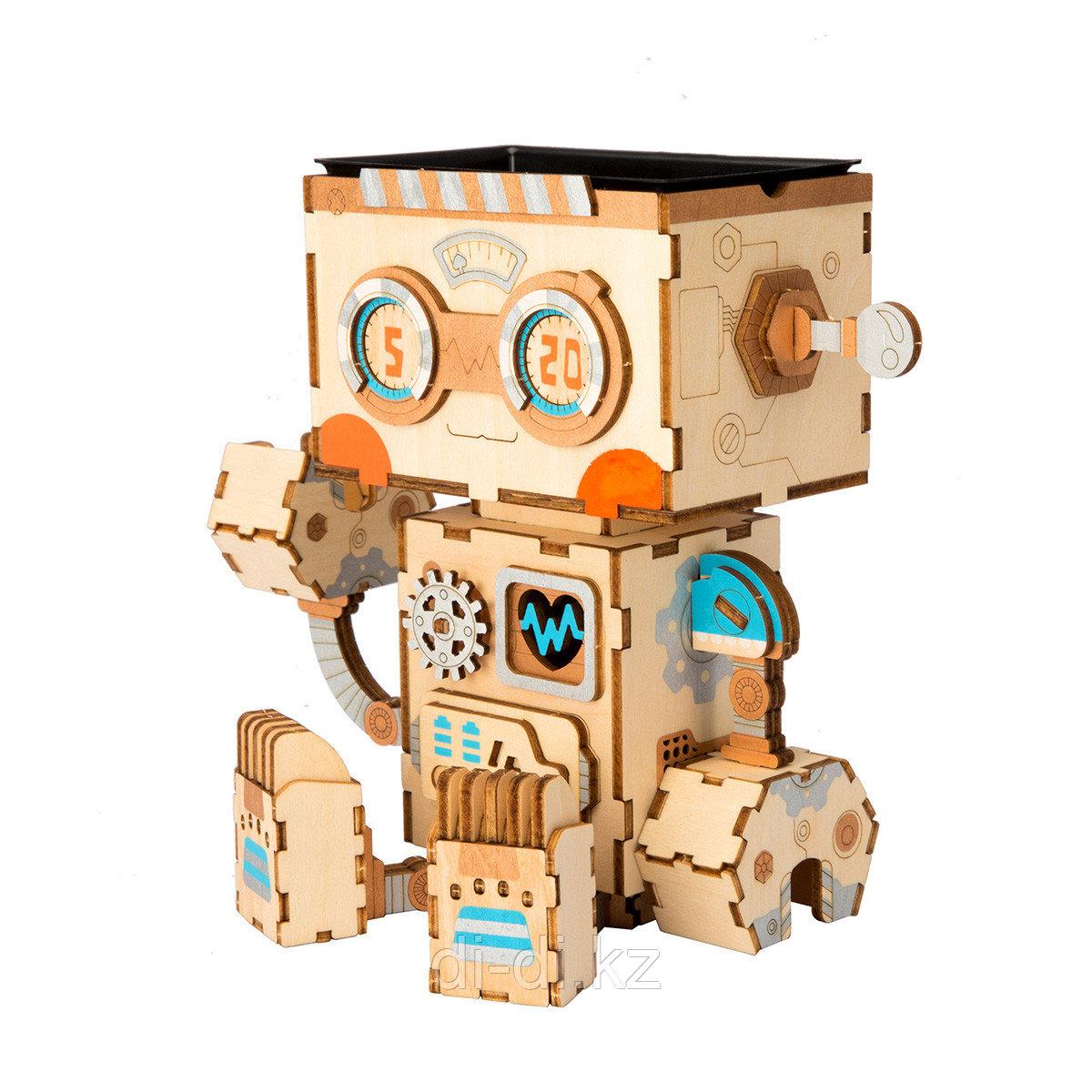 """Румбокс кашпо Robotime """"Робот"""""""