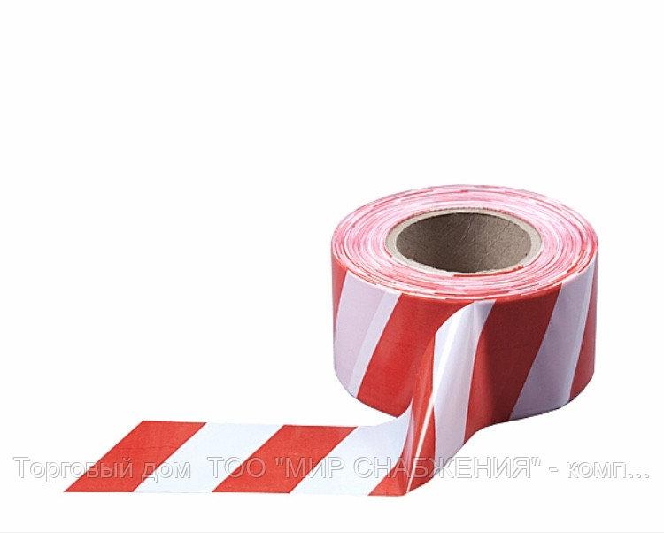 Лента сигнальная бело-красная 50мм*150м