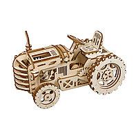 Деревянный 3D конструктор Robotime Трактор