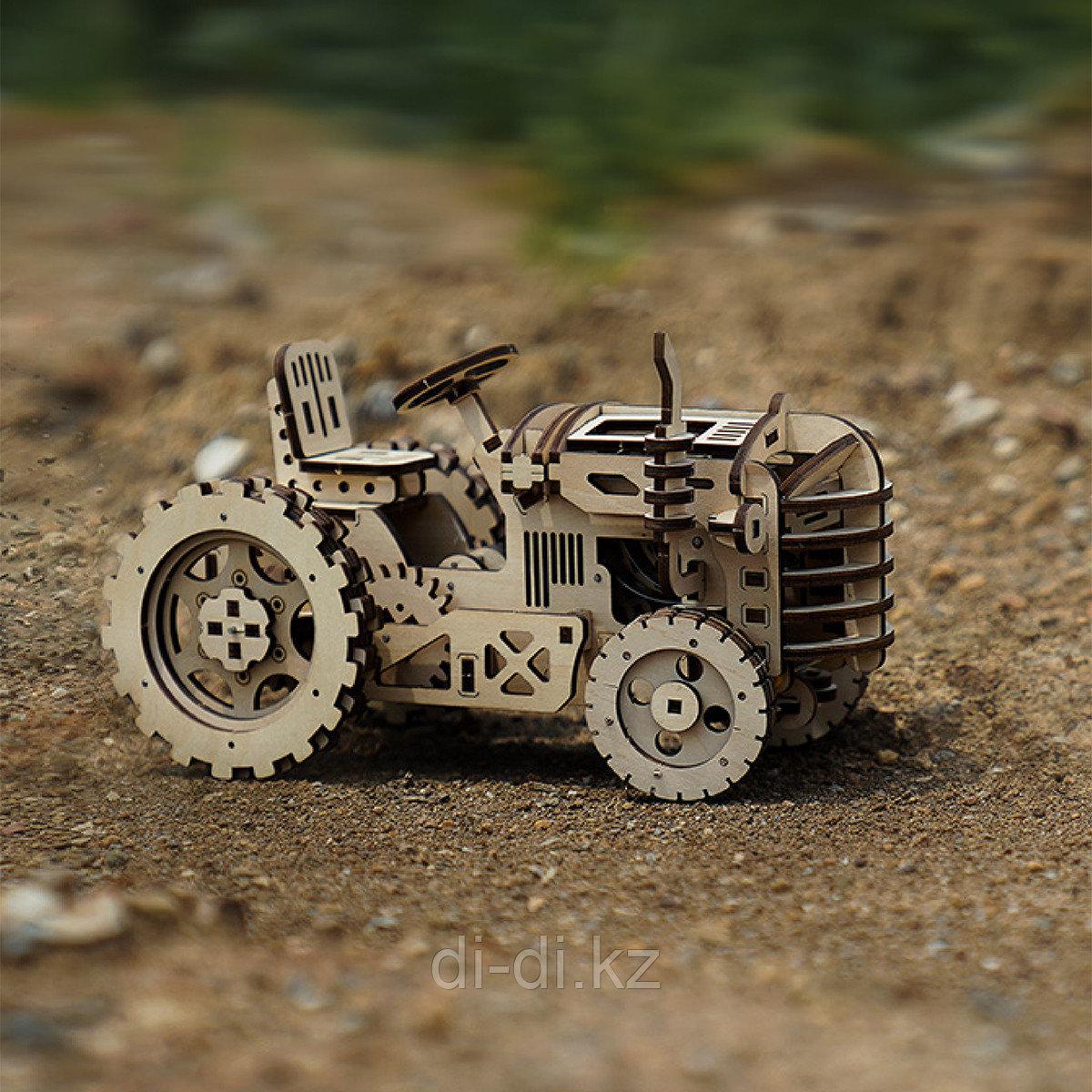 Деревянный 3D конструктор Robotime Трактор - фото 2