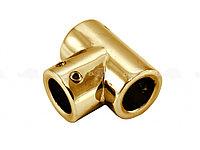 Соединитель т-образный труба-труба | FGD-78TP | Золото