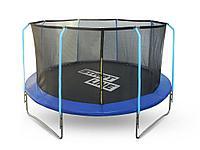 Батут StartLine Fitness 12 футов (366 см) с внутренней сеткой и держателями