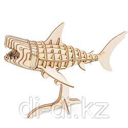 Деревянный 3D конструктор Robotime Акула