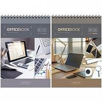 """Блокнот ArtSpace """"Офис. Worktimel"""" на спирали, А5, 80 листов в клетку, твердая подложка"""