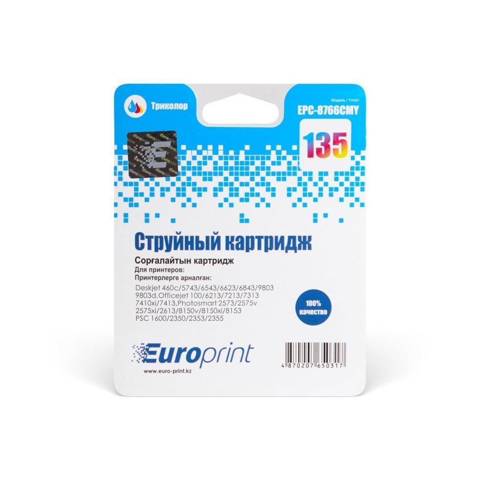 Картридж струйный Europrint EPC-8766CMY (№135) Color