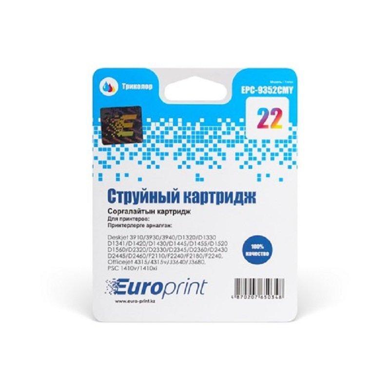 Картридж струйный Europrint EPC-9352CMY (№22) Color