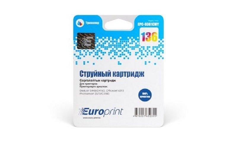 Картридж струйный Europrint EPC-9361CMY (№136) Color