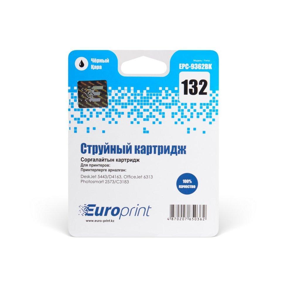 Картридж струйный Europrint EPC-9362BK (№132) Black
