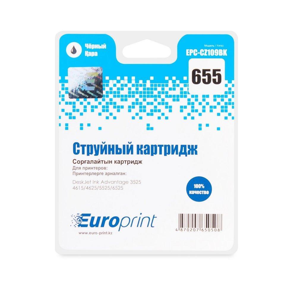 Картридж струйный Europrint EPC-CZ109BK (№655) Black