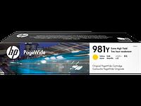 Картридж струйный HP 981Y (L0R15A) PageWide Yellow