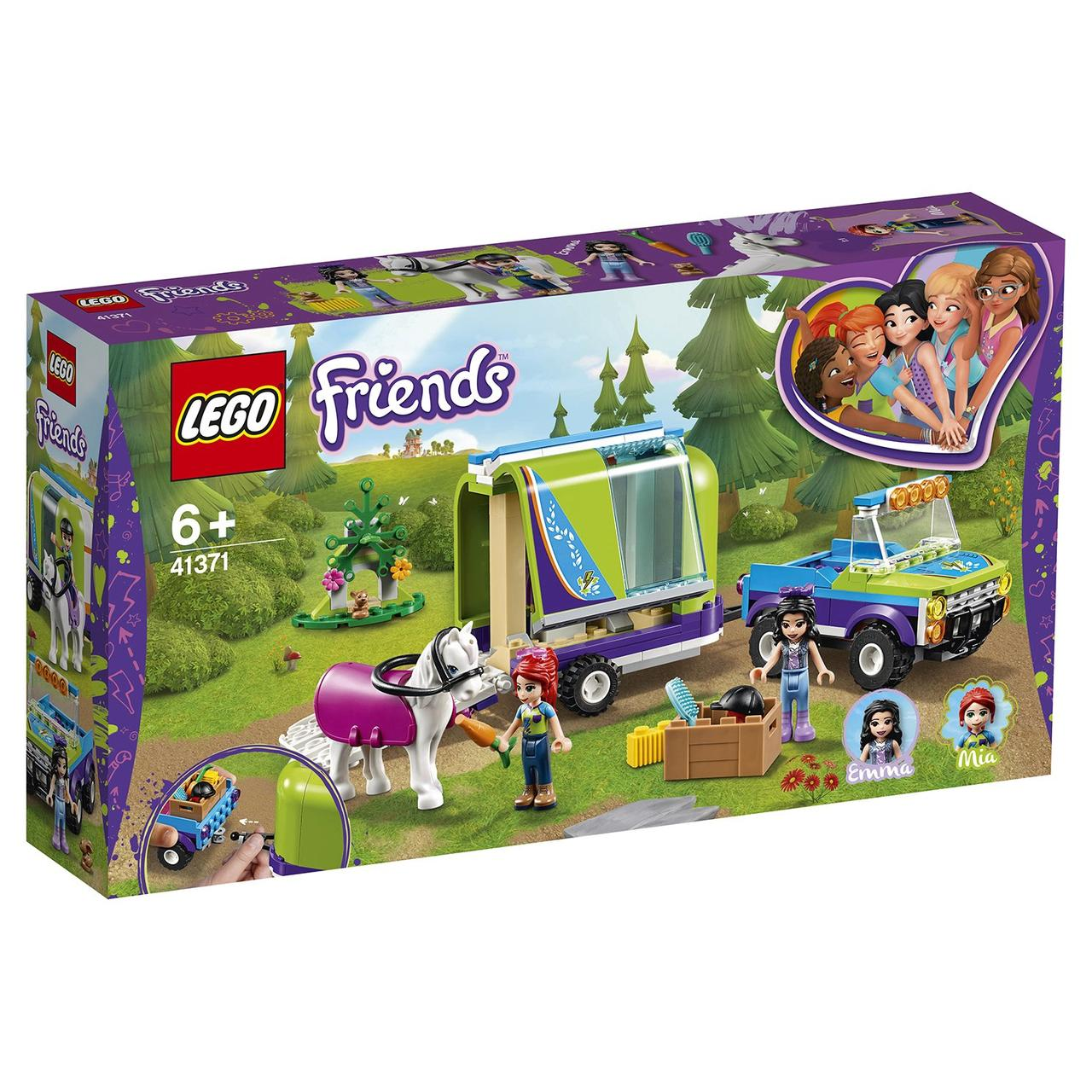 41371 Lego Friends Трейлер для лошадки Мии, Лего Подружки