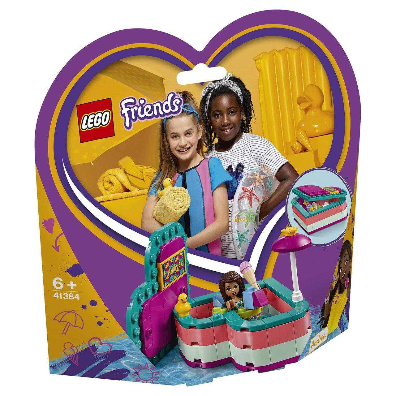 41384 Lego Friends Летняя шкатулка-сердечко для Андреа, Лего Подружки