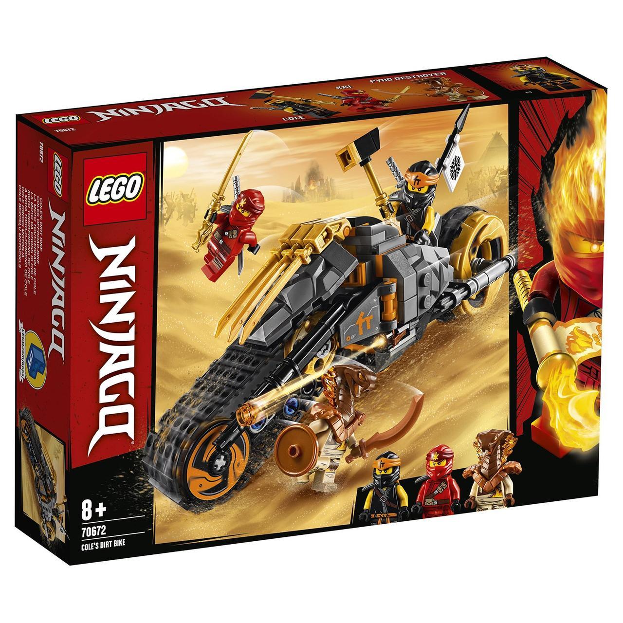 70672 Lego Ninjago Раллийный мотоцикл Коула, Лего Ниндзяго