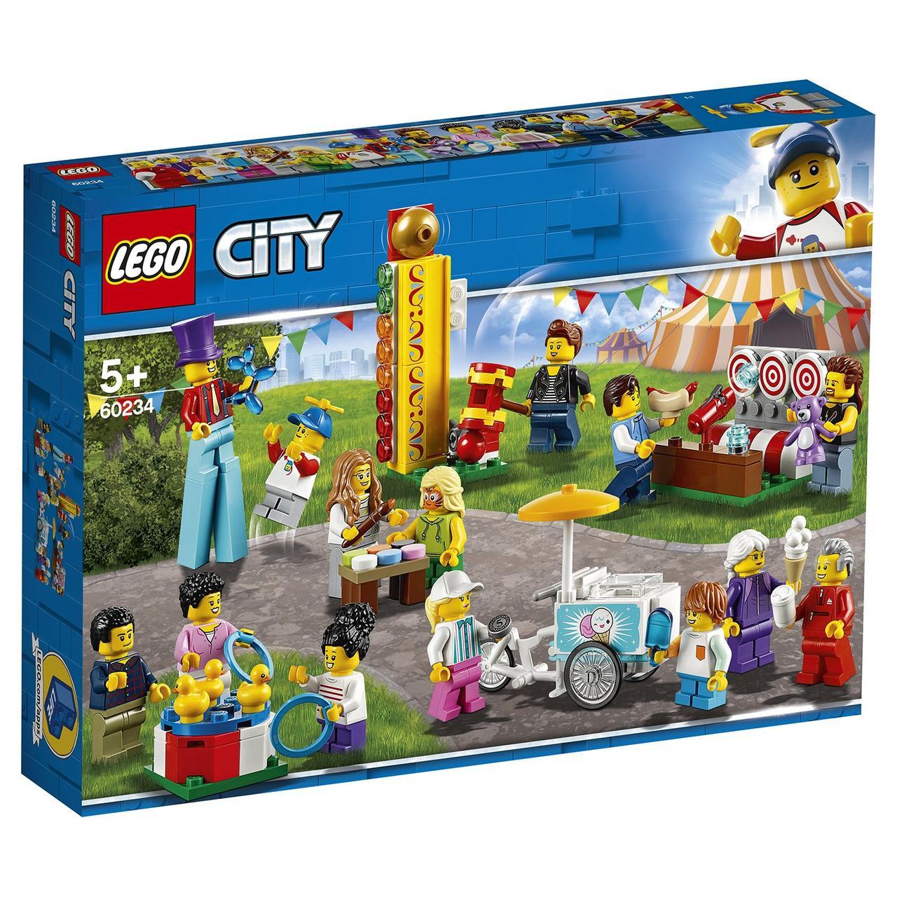 60234 Lego City Комплект минифигурок Весёлая ярмарка, Лего Город Сити