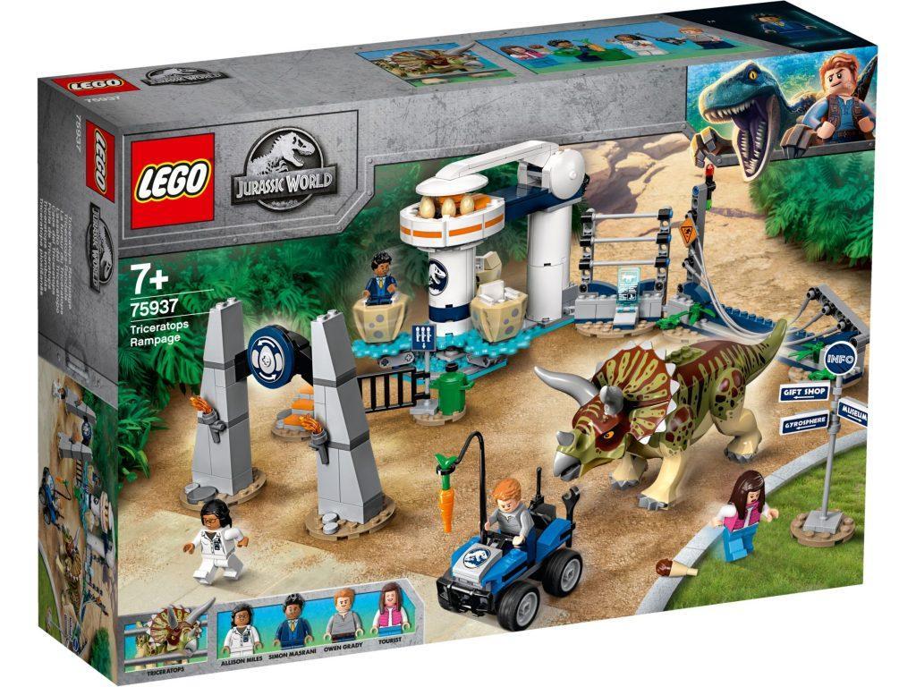75937 Lego Jurassic World Нападение трицератопса, Лего Мир Юрского периода