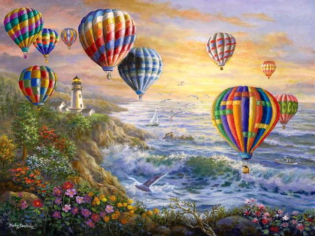 """Картина по номерам """"Воздушные шары - 2"""""""
