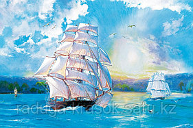 "Картина по номерам ""Корабли в море"""