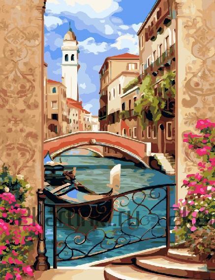 """Картина по номерам """"Канал Венеции"""""""