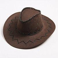 Ковбойская шляпа темно-коричневая