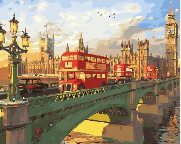 """Картина по номерам """"Мост через Темзу"""""""