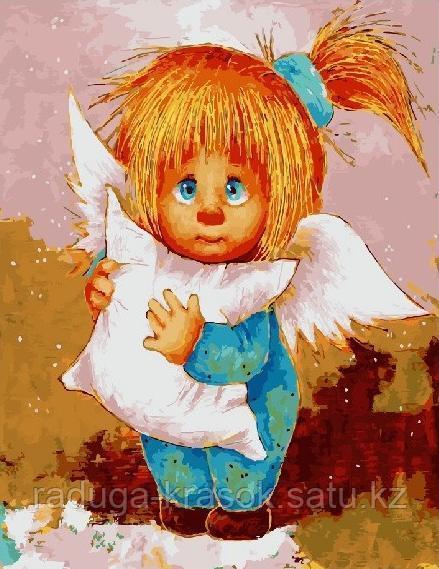 """Картина по номерам """"Солнечный ангел — Спокойной ночи"""