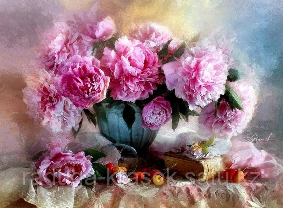 "Картина по номерам ""Натюрморт с розовыми пионами"""