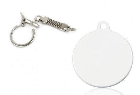 Брелок металлический d30 круглый, фото 2