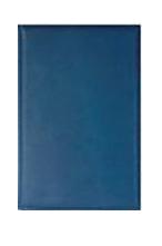 PRESTIJ ежедневник А5+ кожаный со съемной обложкой и золотым обрезом синяя кожа