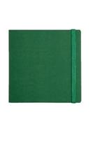 SQUARE 18х18, клетка / на резиночке зеленый